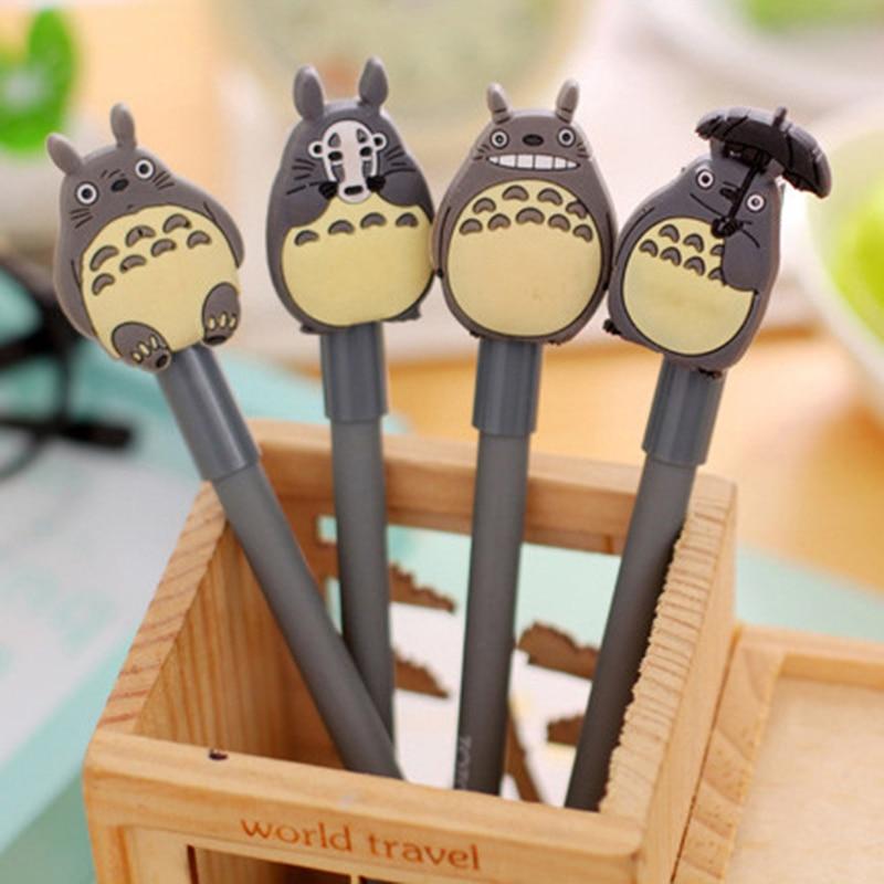 1 Pcs Creative Cute Cartoon Totoro Gel Pen 0.38mm Student Stationery Prize Signing Pen School Office Write Supplies 3