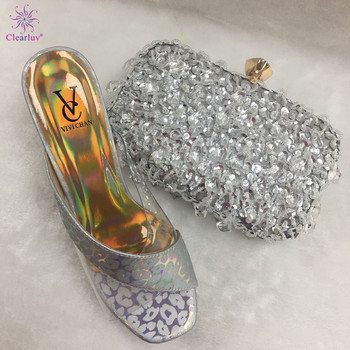 New Fashion Matching Shoes and Bag Set In Heels Summer High Heeled Shoes for Women Italian Shoes with Matching Bags for Wedding