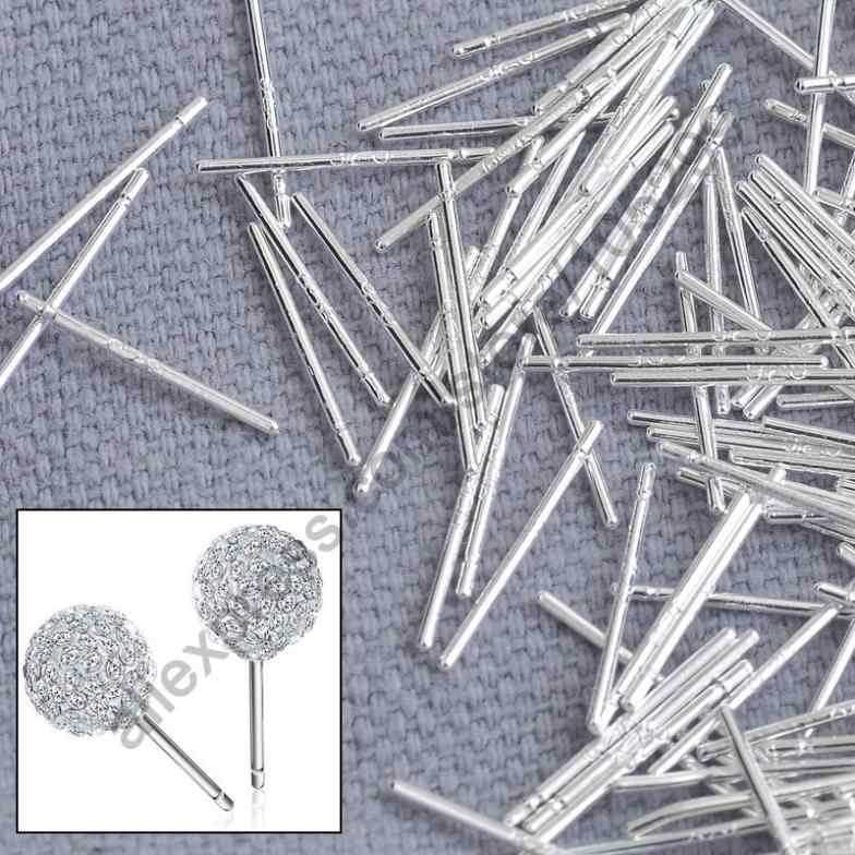 Bulk 1000PCS Real 925 Sterling Silver  Jewelry Findings Fine Ear Stud Pin Posts Handmade Earring Fashion Accessories