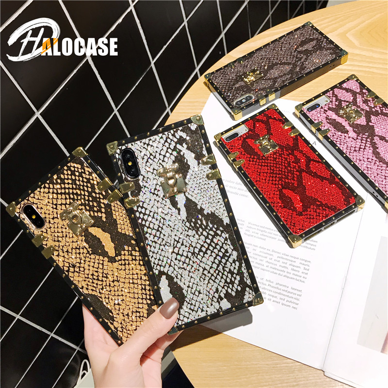 Luxury New Fashion Retro Style Snake Skin Phone Case For iPhone 6 6s 7 8 Plus 11 Pro MAX X XS XR Cover Funda Capa