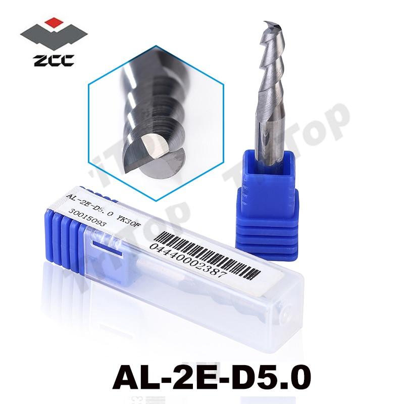 5 pz / lotto AL-2E-D5.0 ZCC.CT D5.0 lavorazione alluminio alluminio tungsteno cobalto fresa fine fresa 5mm al lega cnc fresa