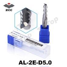 5pcs/lot AL-2E-D5.0 ZCC.CT D5.0 machining aluminium tungsten cobalt alloy End mill 5mm al alloy cnc milling cutter