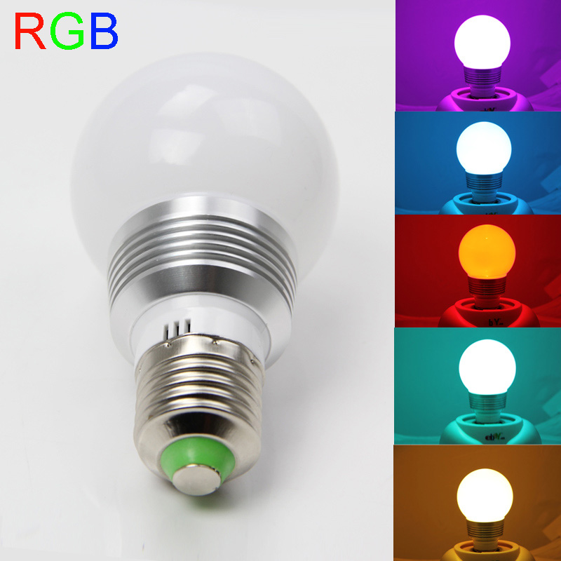 RGB LED Bulb E27/E14/B22 Lamp 16 Color 9W AC110V 220V 85-265V led Bulb Lamp with Remote Control multiple colour led lighting