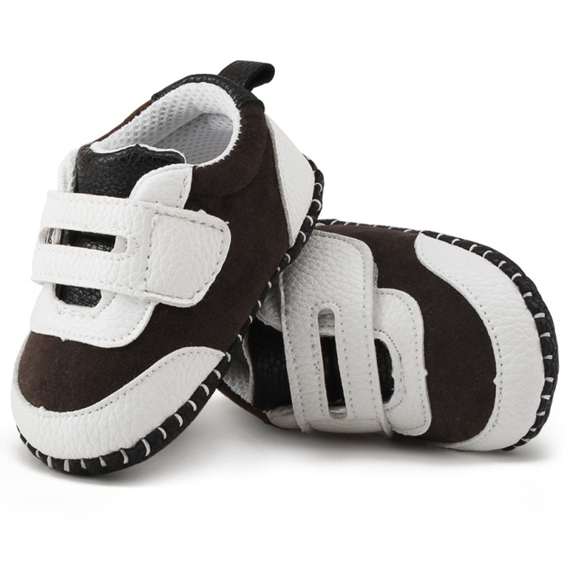 Newborn Baby Boys Girls PU Patch Suede Shoes Anti-slip Baby Shoes First Walker Casual To ...