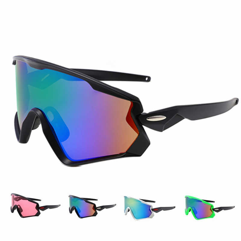 2a3829370a UV400 Cycling Eyewear sunglass MTB Bike Bicycle Windproof Goggles Outdoor  Sport Glasses Large frame Racing Eyewear