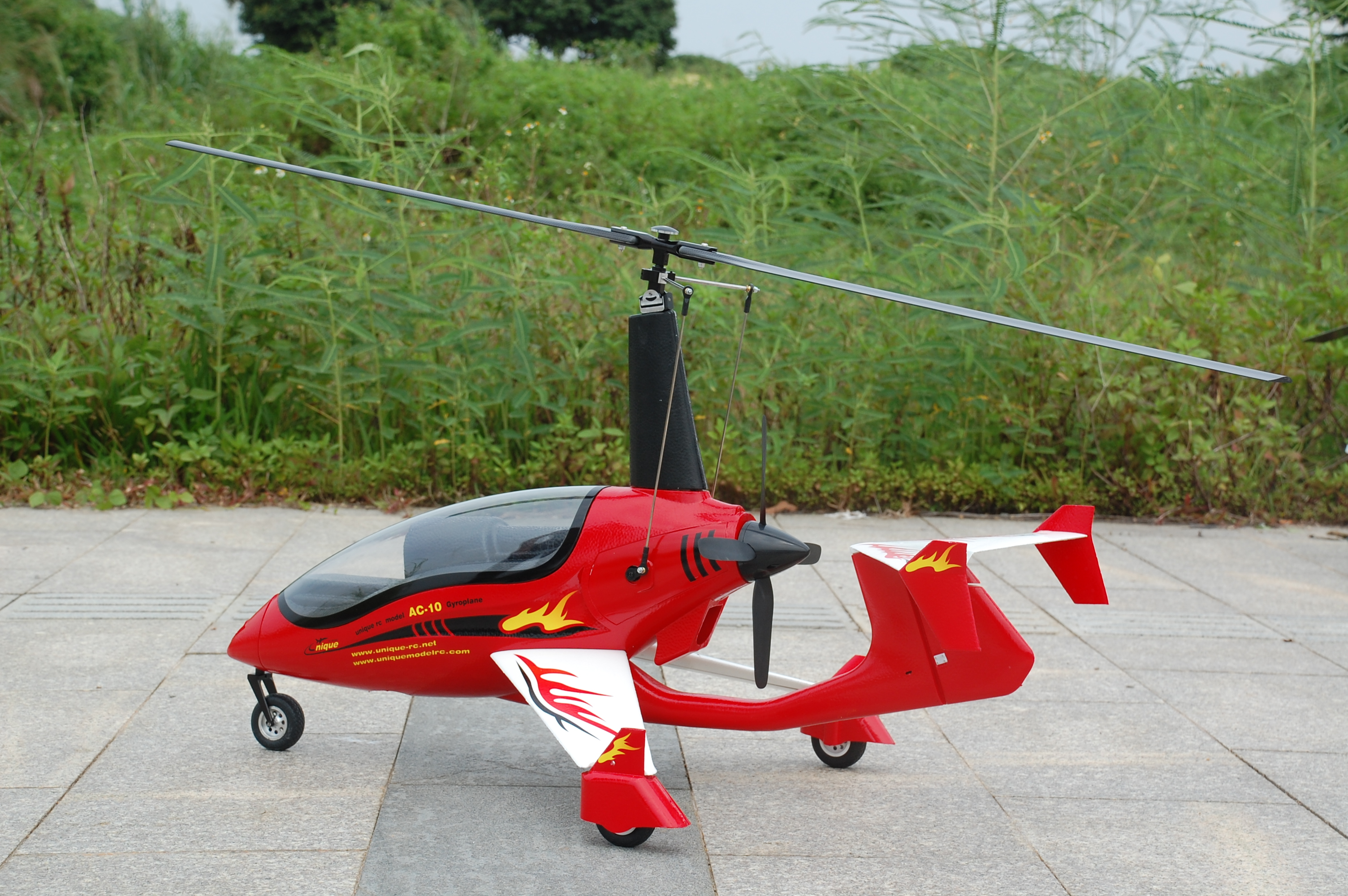 Modèle d'avion Gyrocopter RC Unique AC10 AC-10 PNP