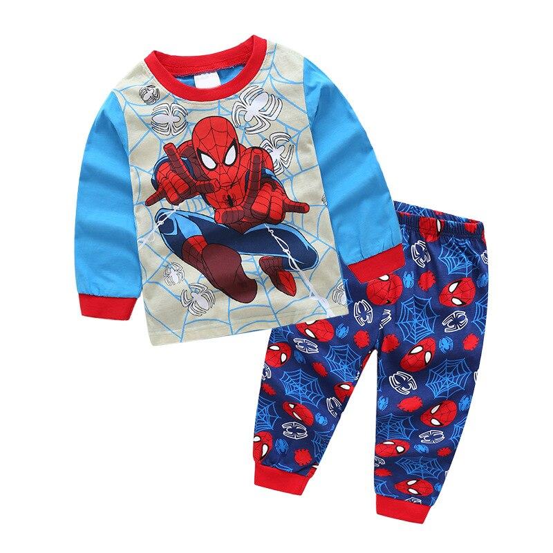 2019 garçons noël pyjamas enfants Superman Pyjama ensemble Spiderman Pjs Pyjama Enfant bébé garçon chemise de nuit Pijamas infantil Navida nouveau