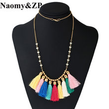 Naomy&ZP Brand Tassel Bohemia Statement Maxi Necklace For Women Ethnic Gothic Cute Boho Vintage Necklaces Female Fashion Jewelry(China)