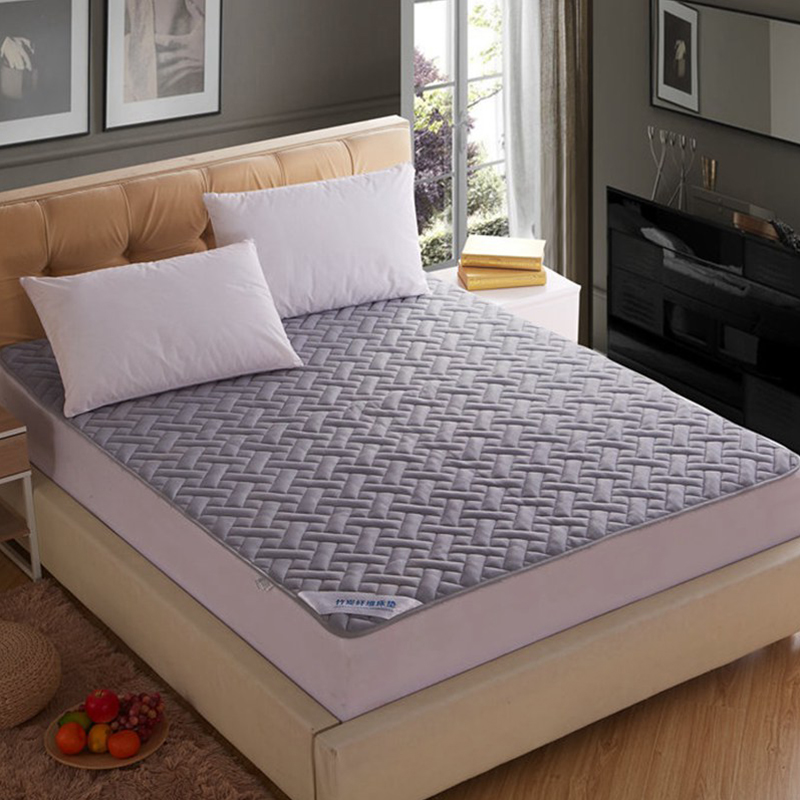 Ventilation Pure Color Lattice Quilted Bedspreads Mattress Covers Mattress Pad Detachable And Washable 150X200cm Queen Size