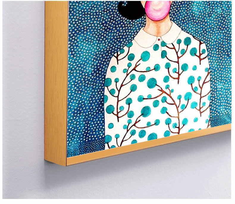 Modern Abstract Personality Figure Colorful Canvas Painting Poster HD Picture Home Bedroom Decoration Art Can Be Customized