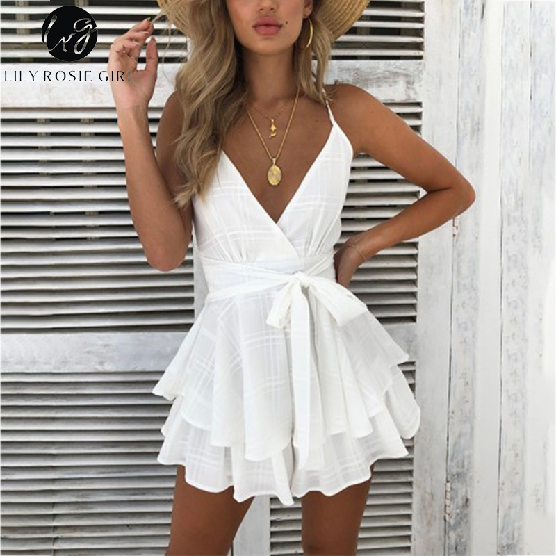 Women's Clothing Persevering Brand New Women Sexy Deep V Neck Long Flare Sleeve Bodysuit Lace V-neck Attractive Jumpsuit Playsuits Leotard Tops