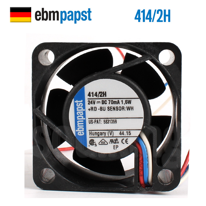 NEW ebmpapst PAPST 414/2H 4020 24V 0.07A 1.6W DC cooling fanNEW ebmpapst PAPST 414/2H 4020 24V 0.07A 1.6W DC cooling fan