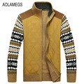 Aolamegs Men Sweater Autumn Winter Cardigan Jacket Men's Fashion Casual Jacquard Sweatercoat Male 2016 Knitting Sweter Hombre