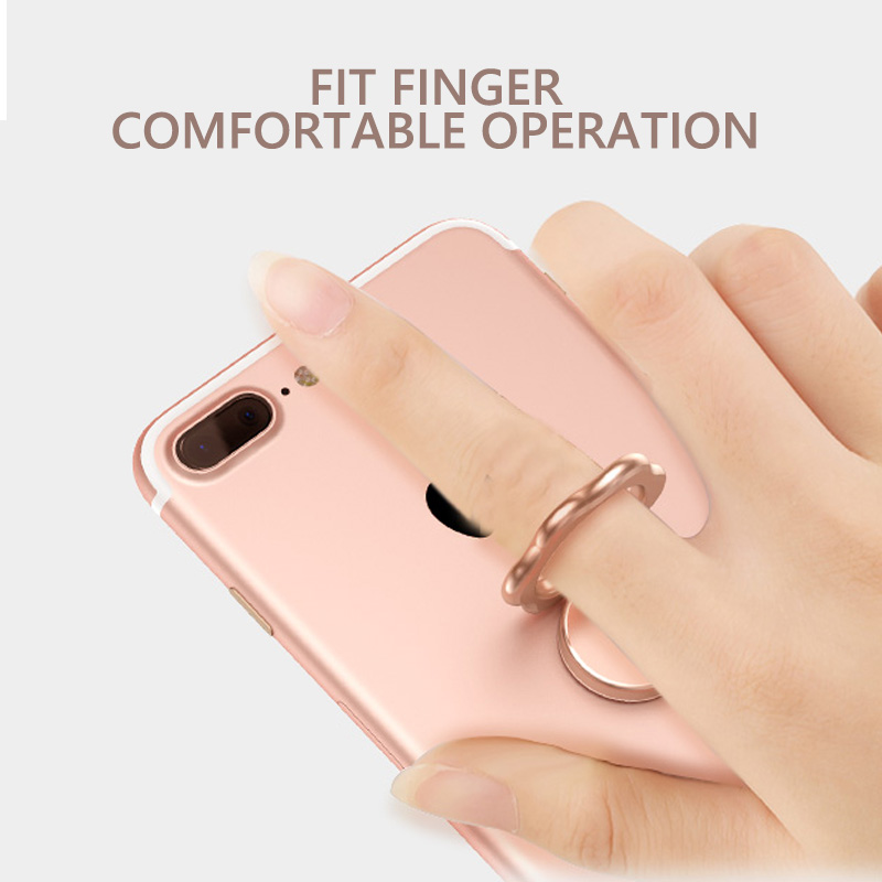 Mobile Phone Finger Ring Holder Rotation Stand Bracket Metal Shape 360 Degree Zinc Alloy Plate for IphoneX Samsung Smartphone