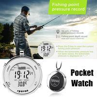 SHZONS Men's Sports Pocket Watch Men Watches Waterproof Shockproof Fishing Remind LED Backlight Alarm Stopwatch SPV600
