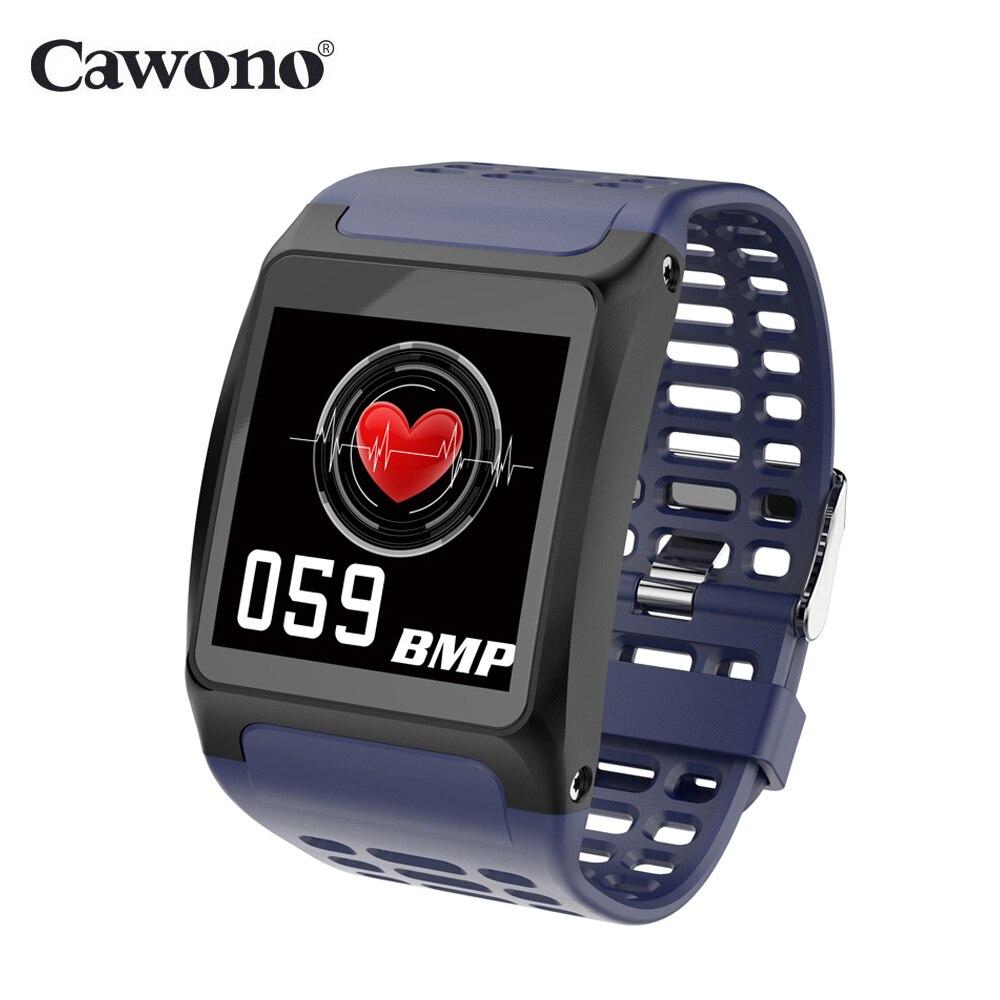 Cawono CW38 Astuto Della Vigilanza 1.3 pollice di Pressione Sanguigna Frequenza Cardiaca Tracker Previsioni Meteo Ore Impermeabile Smartwatch per IOS Android