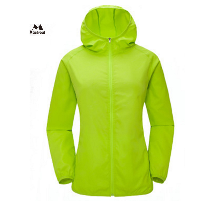 MAZEROUT 2017 Woman New Summer Skin Thin Anti-UV Sun-proof Coat Outdoor Hiking Jacket Breathable Windbreaker Quickly-dry J28