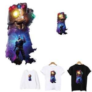Наклейки Thanos Infinity Gauntlet, утюжок на патчи, нанесение одной плавной одежды, термопереводная полоска, аппликация