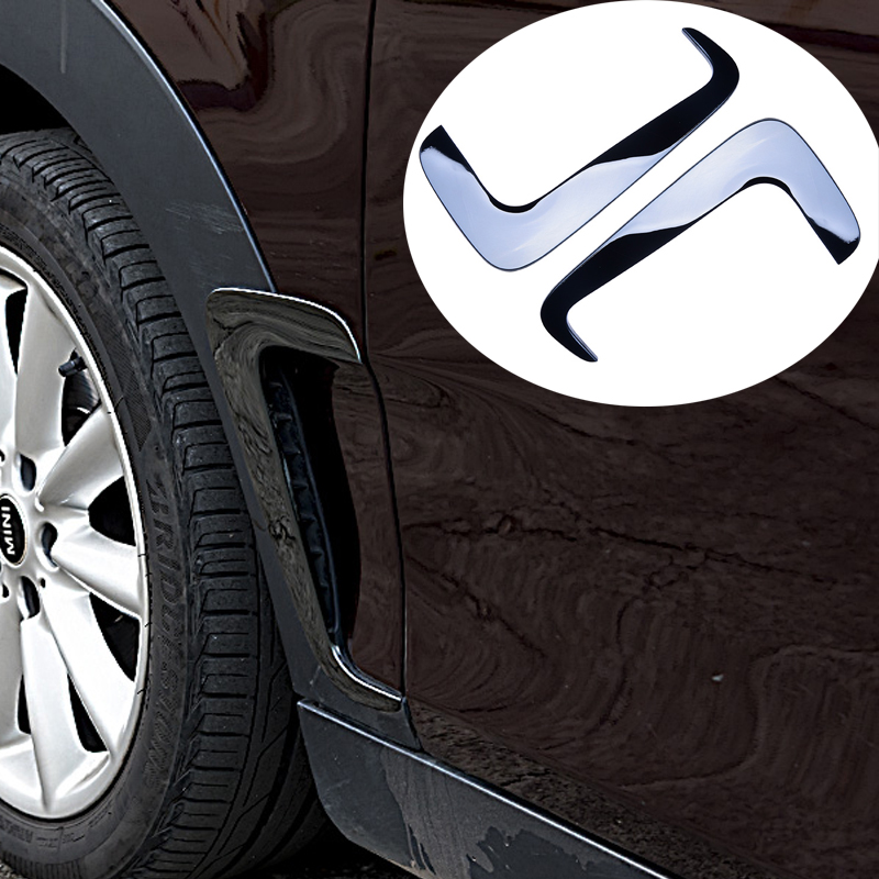 Stainless Steel Car Front Wheel Fender Air Vent Cover Trim Anti-scratch Car Body Sticker for Mini Cooper Clubman F54 Car-Styling stainless steel car front wheel fender air vent cover trim anti scratch car body sticker for mini cooper clubman f54 car styling
