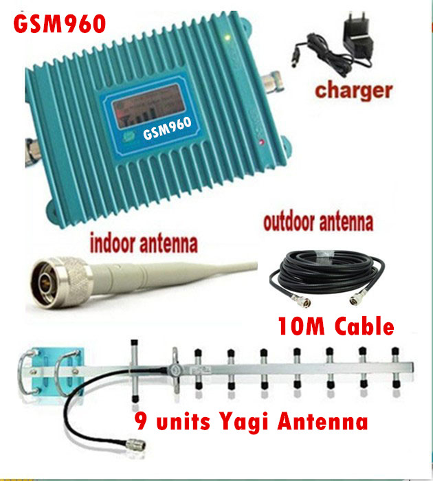 LCD Display GSM 900Mhz Mobile Phone GSM 960 Signal Booster , Cell Phone GSM Signal Repeater + 13dBi 9 units Yagi Antenna + CableLCD Display GSM 900Mhz Mobile Phone GSM 960 Signal Booster , Cell Phone GSM Signal Repeater + 13dBi 9 units Yagi Antenna + Cable