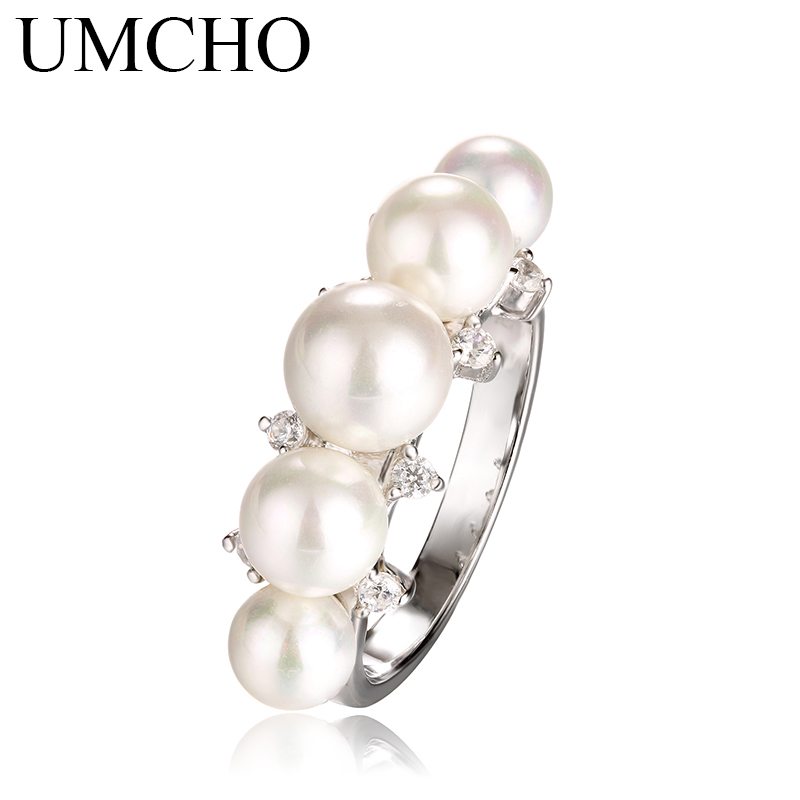UMCHO 925 Sterling Silver Natural Freshwater Pearl