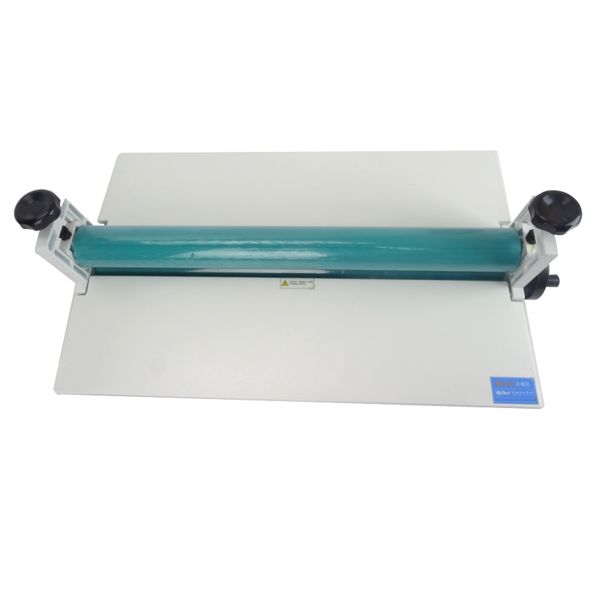 1pc All Metal Frame 25 650mm Manual Laminating font b Machine b font Rubber Cold Laminator