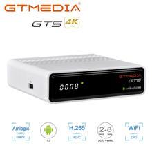 Receptor satélite gtmedia gts DVB S2Android 6.0 caixa de tv + DVB S/s2 android 6.0 caixa de tv 2gb ram 8gb rom bt4.0 gtmedia gts
