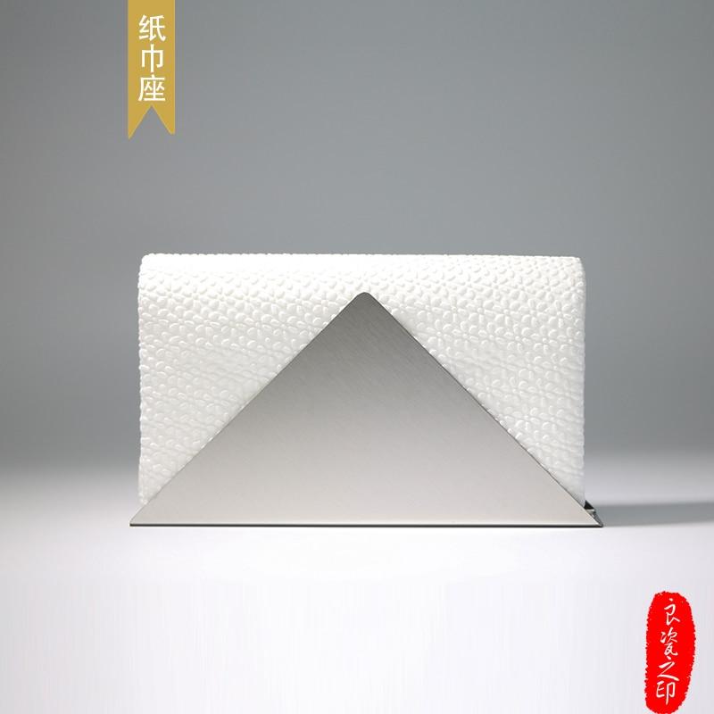1pcs stainless steel napkin holder paper towel holder towel holder meal tray