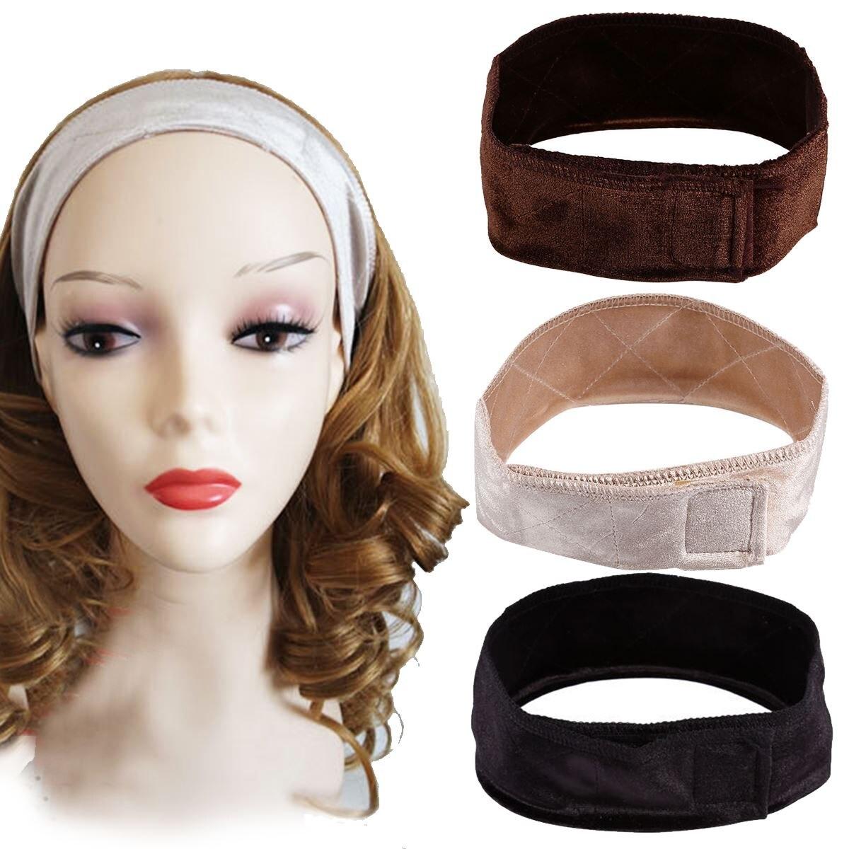 New Style 3 Colors Hot Wig Hair Band Velvet Hair Band Adjustable Velvet Wig Grip Hair Band Headband Wiggery Accessery Headband Home
