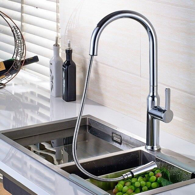 Marke Neue Kupfer Verchromt Heiß Und Kalt Wasser Küchenarmatur ...