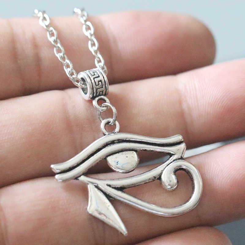Dieux égyptiens Protection colliers l'oeil d'horus pendentif Collier Vintage argent charmes amulette ras du cou Collier Bijoux éternité