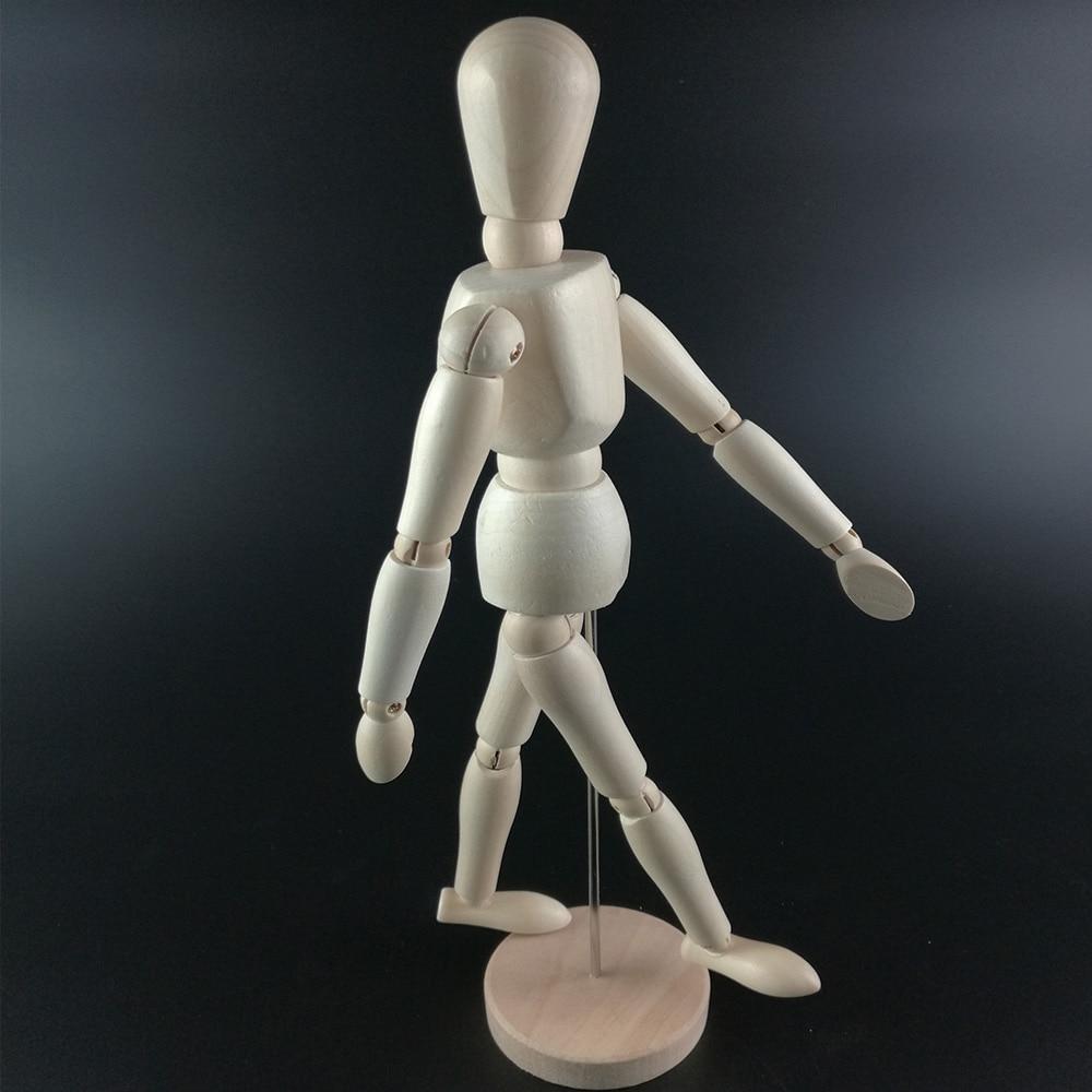 5.5 Inch 14cm Wood Human Body Model Figure Manikin Mannequin Artist Drawing Sketch Office & School Supplies Wooden Human Body mannequin
