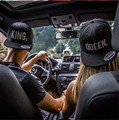 KING QUEEN Snapback Embroidery Men Women Couple Baseball Cap Gifts Lovers Cap Hip Hop Sport Hats Super Fashion Hot Sale 2pcs