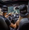 KING QUEEN Snapback Embroidery Men Women Couple Baseball Cap Gifts Lovers Cap Hip Hop Sport Hats Super Fashion Hot Sale 2pcs