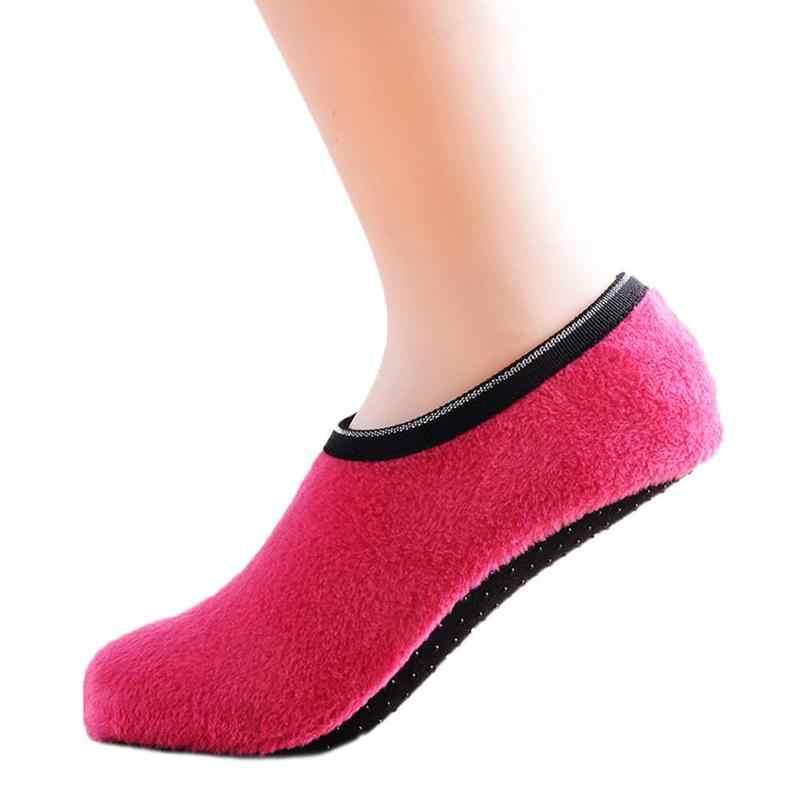 Kış kat çorap kadife kapalı kısa kaymaz tekne çorap düz renk sıcak çorap terlik oturma odası ayakkabı kapağı Copriscarpe
