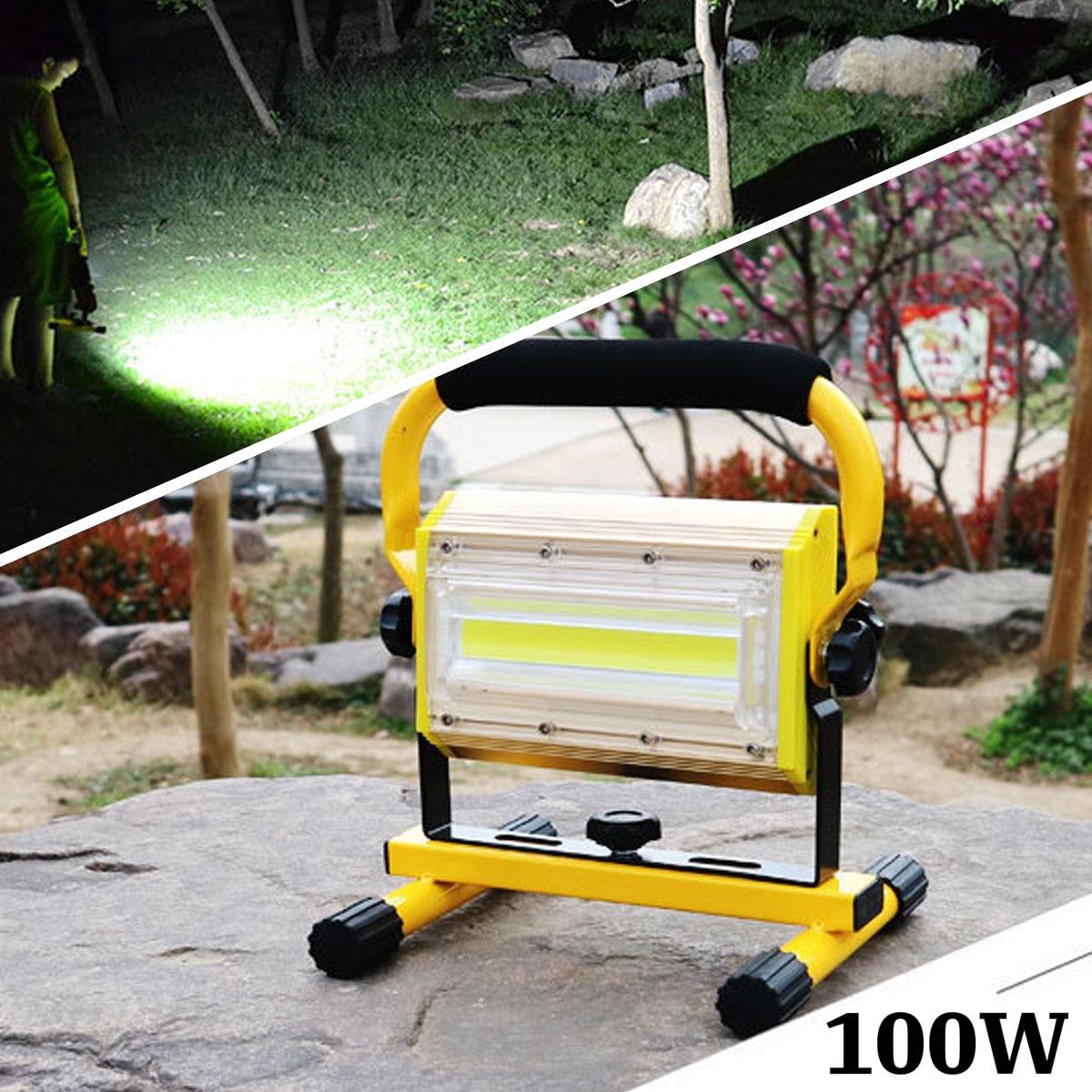 100 W 2400lm projecteur puissant étanche Rechargeable LED tactique Camping pêche travail torche Flash lampe de poche