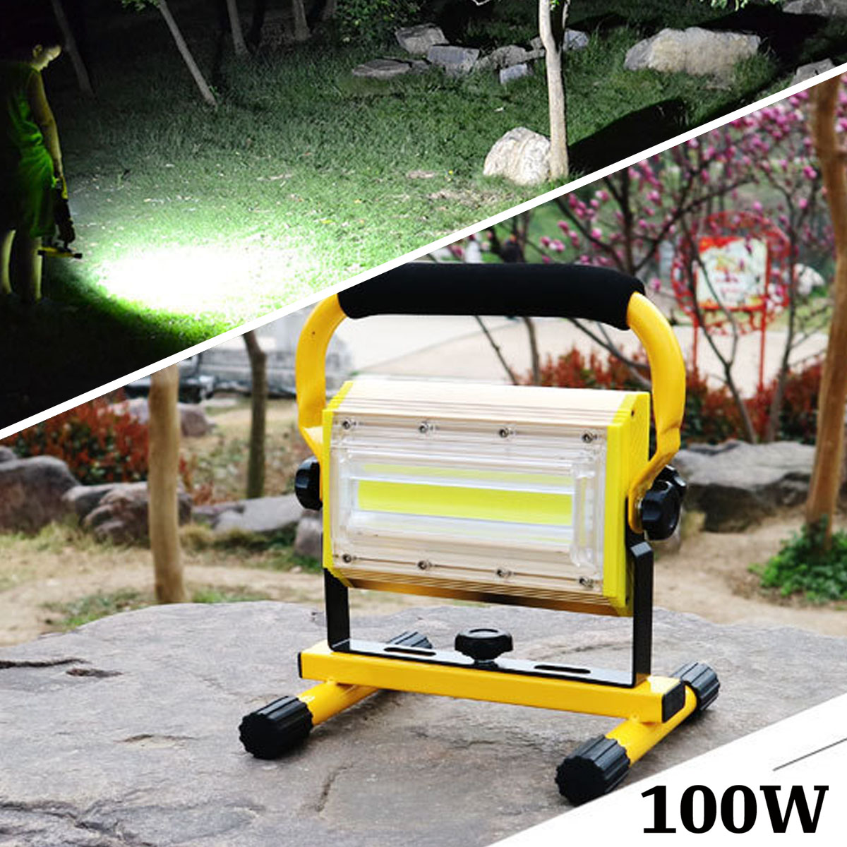 100W 2400lm Flood Light Powerful Waterproof Rechargeable LED Tactical Camping Fishing Working Torch Flash Lamp Flashlight protable led flashlight rechargeable hand searching light flash lamp torch night working camping long range lanterna powerful