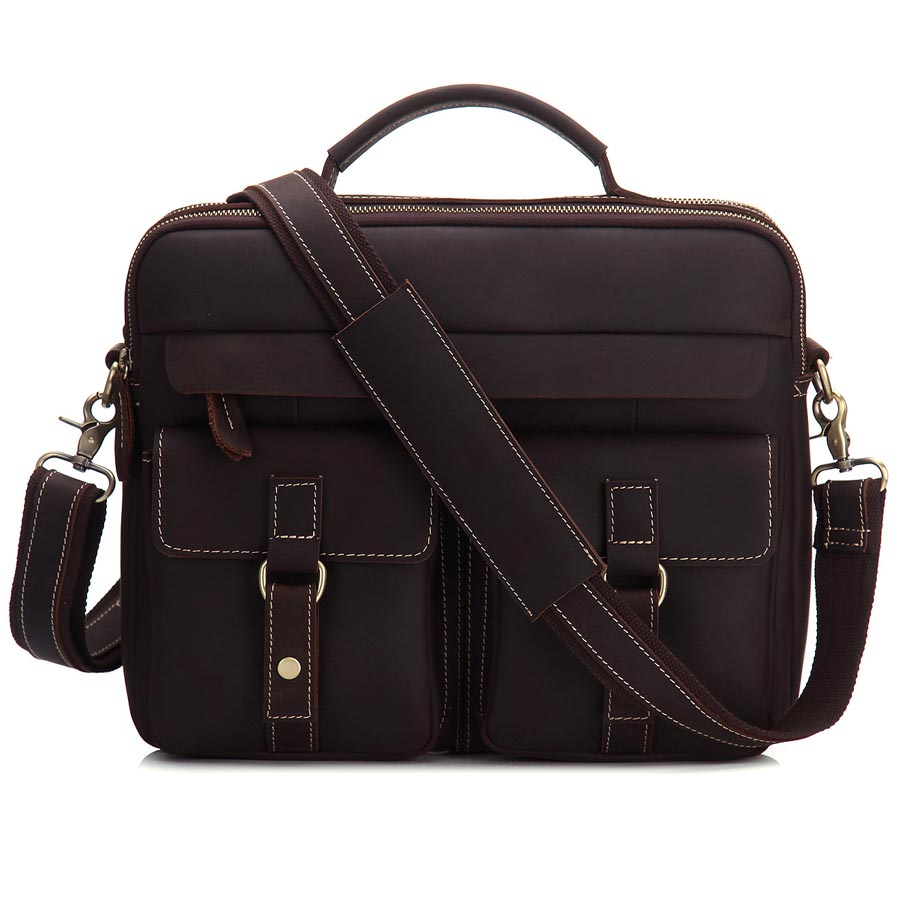 Brand Genuine Leather Business Briefcase Handbag Men's Cross Body Shoulder Bag Messenger Bags Male Portfolio For 13' Laptop A4 купить в Москве 2019