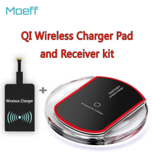 Universal Qi Wireless Charger Charging Pad Receiver Phone Wireless Charging For Apple iphone 6 Samsung Android Phone charger