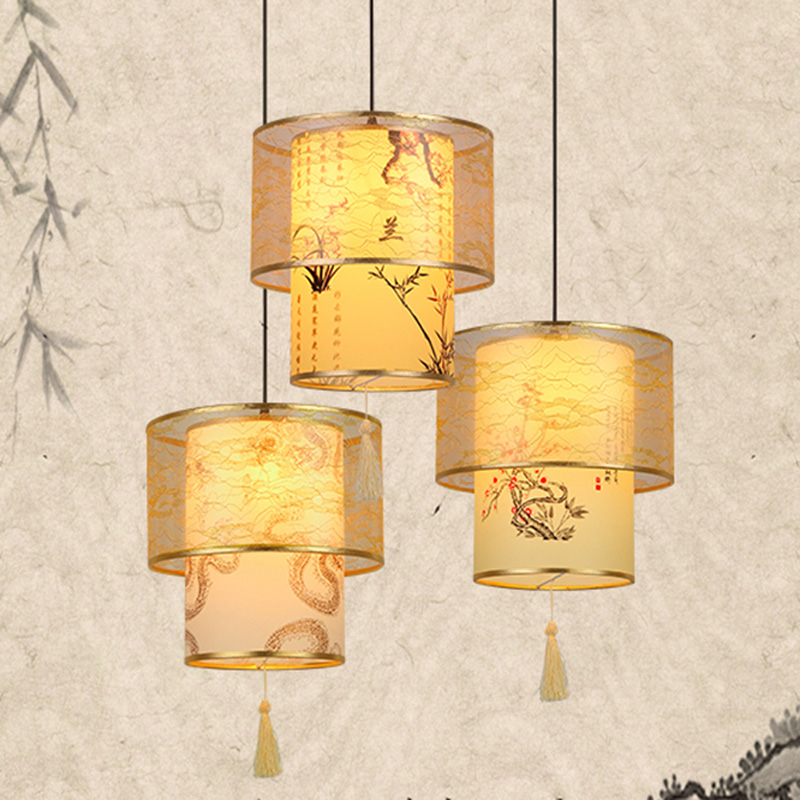 Chinese cloth Chinese antique parchment head single bedroom living room hotel restaurant restaurant pendant light ZH ZS49 lo1025Chinese cloth Chinese antique parchment head single bedroom living room hotel restaurant restaurant pendant light ZH ZS49 lo1025