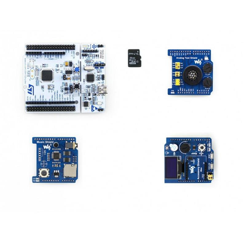 module NUCLEO-F401RE Package B = NUCLEO-F401RE+ Accessory Shield +Analog Test Shield +Music Shield gsm gprs gps shield b shield based on the quad band module sim808 bluetooth module