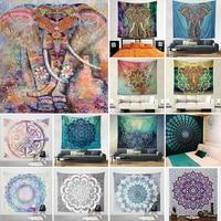Декоративная Мандала слон настенный гобелен богемный макраме настенное Одеяло Ткань Wandkleed домашний декор шторы йога коврик