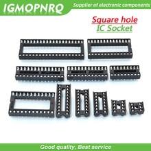 10 шт. IC розетки DIP6 DIP8 DIP14 DIP16 DIP18 DIP20 DIP24 DIP28 DIP40 контактный разъем гнездо DIP 8 14, 16, 18, 20, 24, 28 40 pin DIP-8