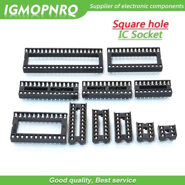10 piezas IC conectores DIP6 DIP8 DIP14 DIP16 DIP18 DIP20 DIP24 DIP28 DIP40 pines conector Socket DIP 8 14 16 18 20 24 28 40 pin DIP-8