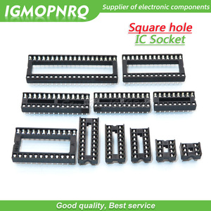 10PCS IC Sockets DIP6 DIP8 DIP14 DIP16 DIP18 DIP20 DIP24 DIP28 DIP40 pins Connector DIP Socket 8 14 16 18 20 24 28 40 pin DIP-8