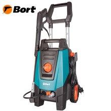Мойка высокого давления Bort BHR-2100-Pro (Мощность 2000 Вт, макс.давление 160 бар, производительность 7.5 л/мин, автоматическое всасывание, длина шнура 5 м, длина шланга 8 м)