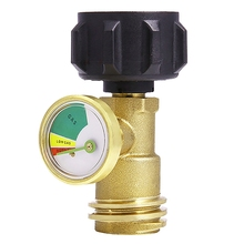 TOP!-Propane Tank Connector Gas Meter Propane Gauge Pressure
