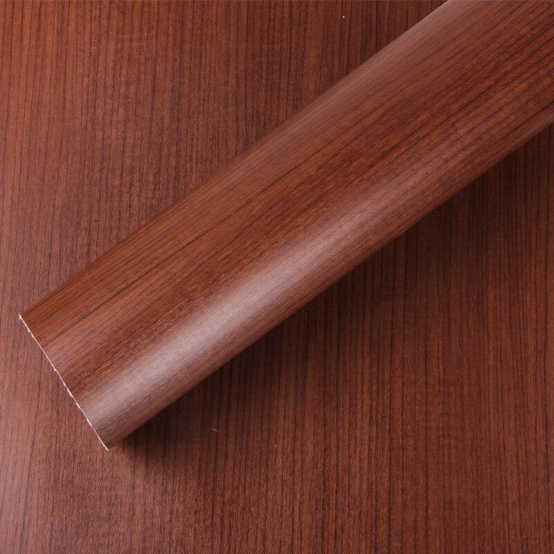 Épaississement pvc armoires de cuisine autocollants étanche grain du bois papier peint/étanche meubles wallpaper-W1539