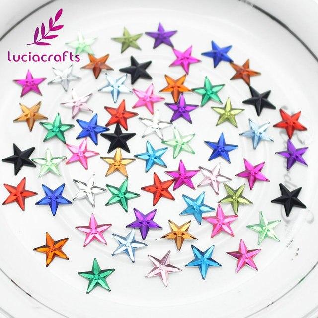 Lucia crafts 10mm Star design Acrylic rhinestone Art Rhinestones for DIY  250pcs 500pcs 21011004 8dfc7d2d73bb