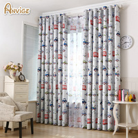Cartoon Cars Eco Friendly Blackout Printed Curtains For Kids Room Babys Room Girls Room Customize Curtain